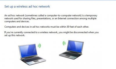 How to share Wireless Network Connection between two laptops