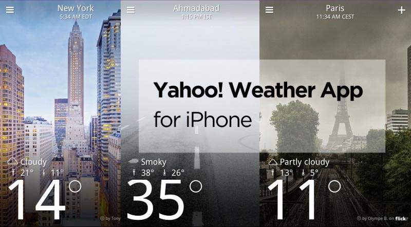 how-to-use-Yahoo!-weather-app