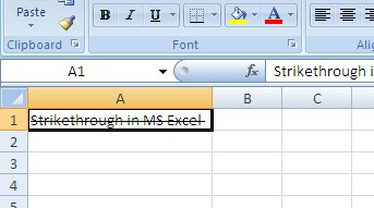 how-to-put-line-through-text-in-excel