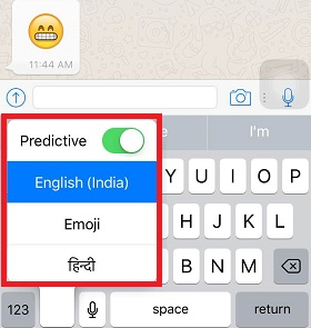 How to Change Keyboard in iOS?