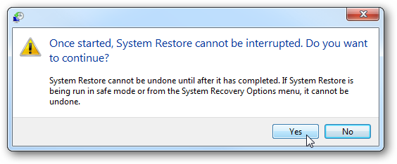 How to perform a system restore for Windows 7
