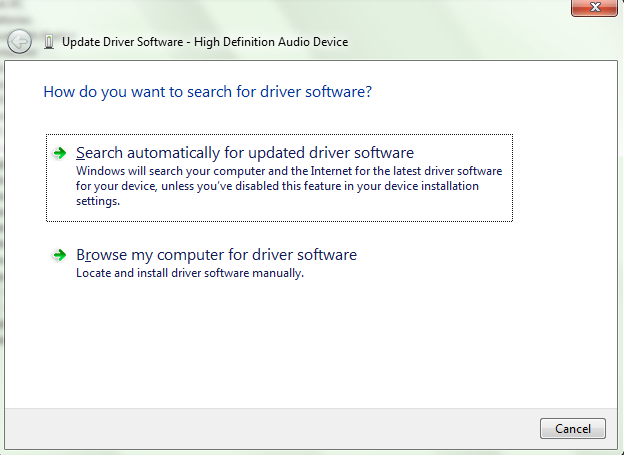 windows 7 driver updates