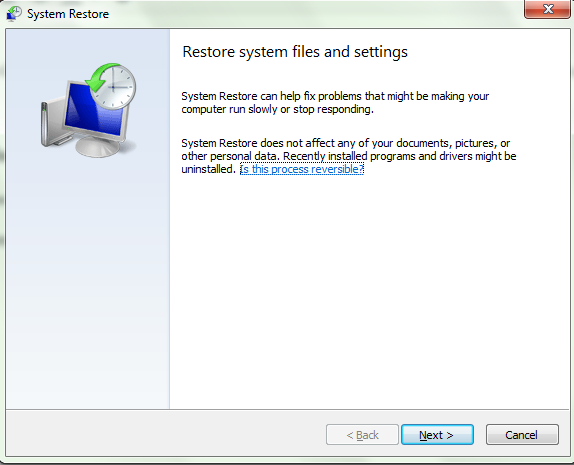 How do I use system restore in Windows