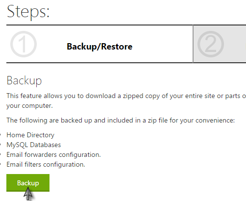 How Do I Create A Full Backup Of My Site,