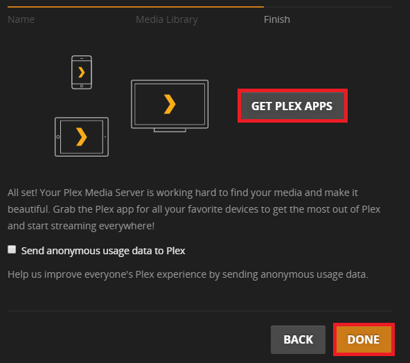 How to use Plex media server
