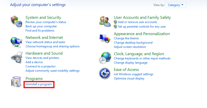 How to Remove Programs in Windows 7