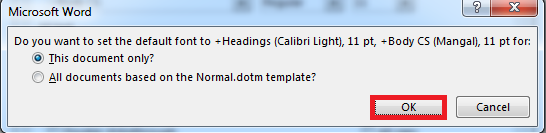 How to Set the Default Font in Word?