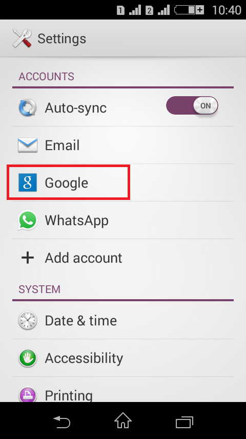 How to change the primary Gmail Account of an Android Device