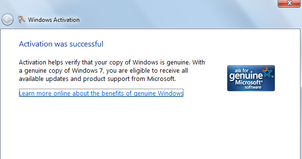 windows 7 genuine check